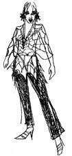 """Sketch of a """"racy outfit"""""""