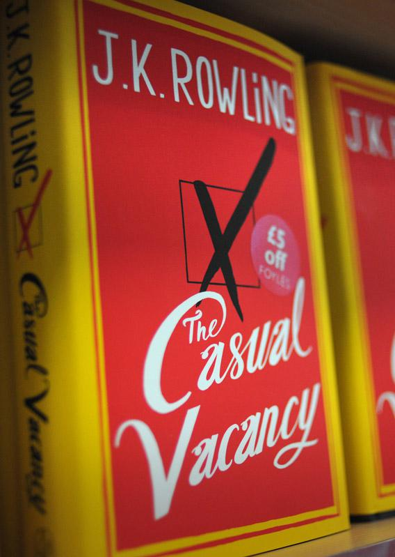 Copies of The Casual Vacancy, the new novel by British author J. K. Rowling.