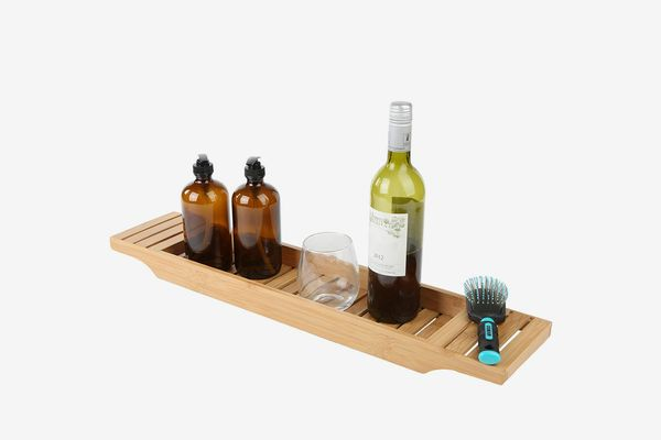 Mind Reader Bamboo Bathtub Tray