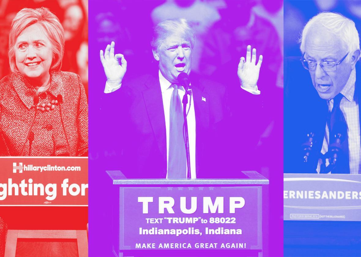 Hillary, trump, bernie.