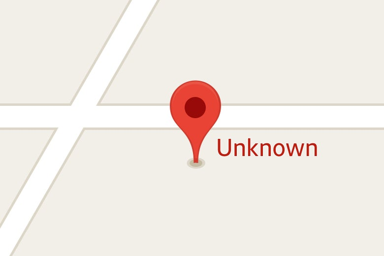 "A Google Map's pin on an address labeled ""Unknown."""