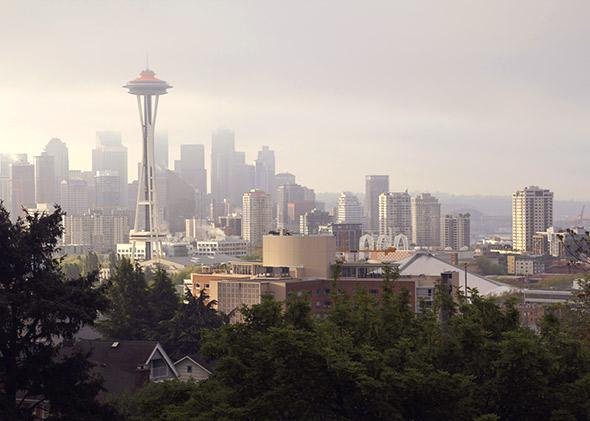 Seattle skyline.