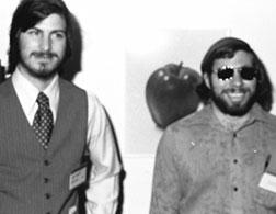 Steve Jobs (left) and Steve Wozniak. Click image to expand.