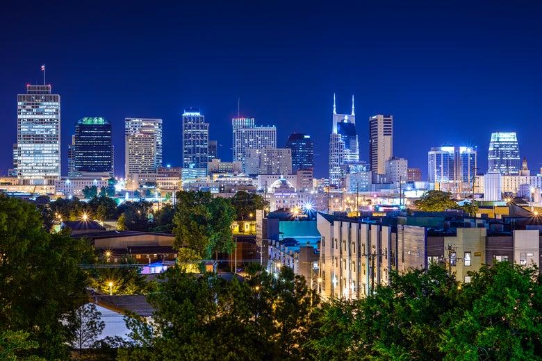Nashville's skyline.