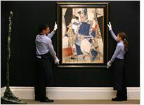 Fernand Léger's Étude Pour la Femme en Bleu at Sotheby's. Click image to expand.