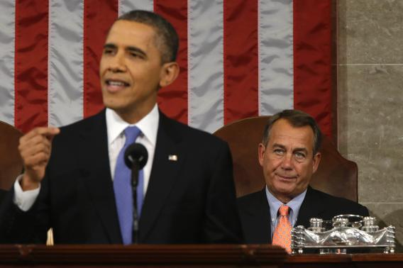 House Speaker John Boehner was not about to stand up and clap for cap-and-trade.