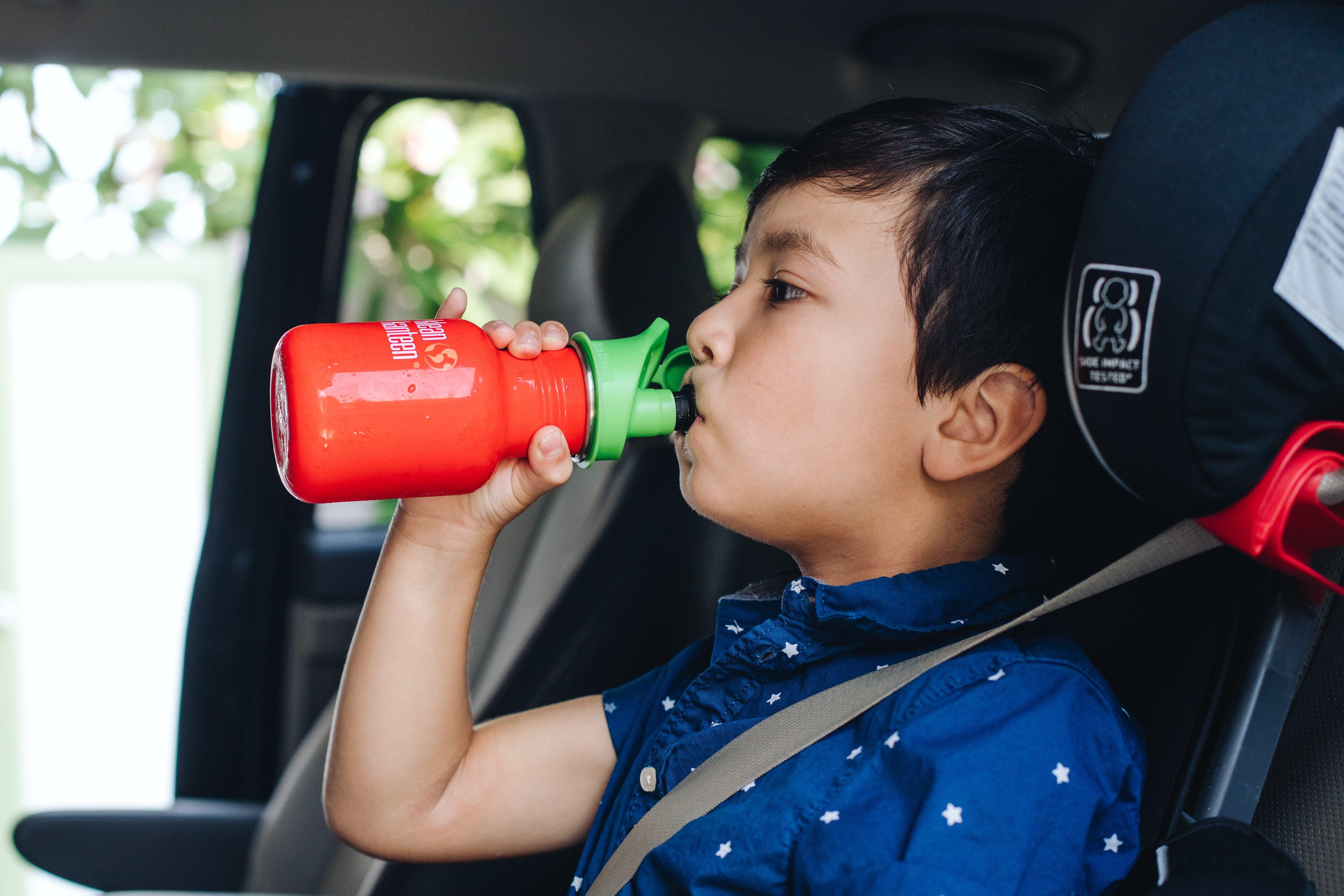 Child drinking from Kleen Kanteen