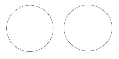 Drawings of a circle and an ellipse representing Earth's orbit.