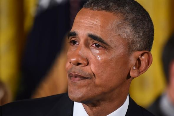 Obama tears up gun control
