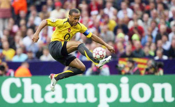 Arsenal's French forward and team captain Thierry Henry during the UEFA Champion's League final match, 17 May 2006.