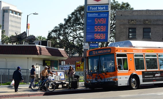 Multi-modal commuting in Los Angeles