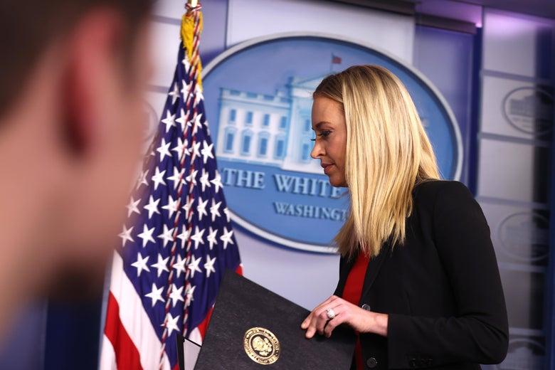 Trump's Press Secretary Kayleigh McEnany Leaves White House a Few Days Early