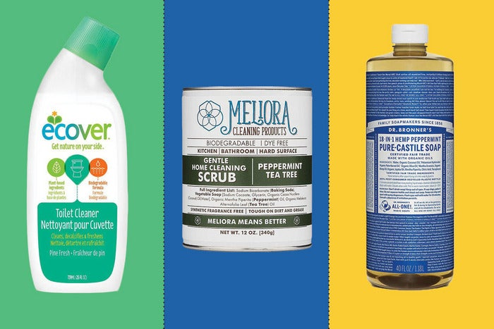 assortment of natural cleaners