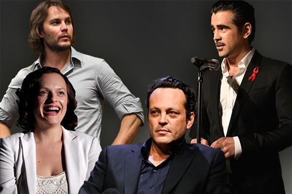 From top left, counterclockwise: Actor/Director Taylor Kitsch, Elisabeth Moss, Vince Vaughn, and Colin Farrell.