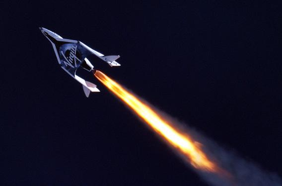 Virgin Galactic SpaceShipTwo test flight