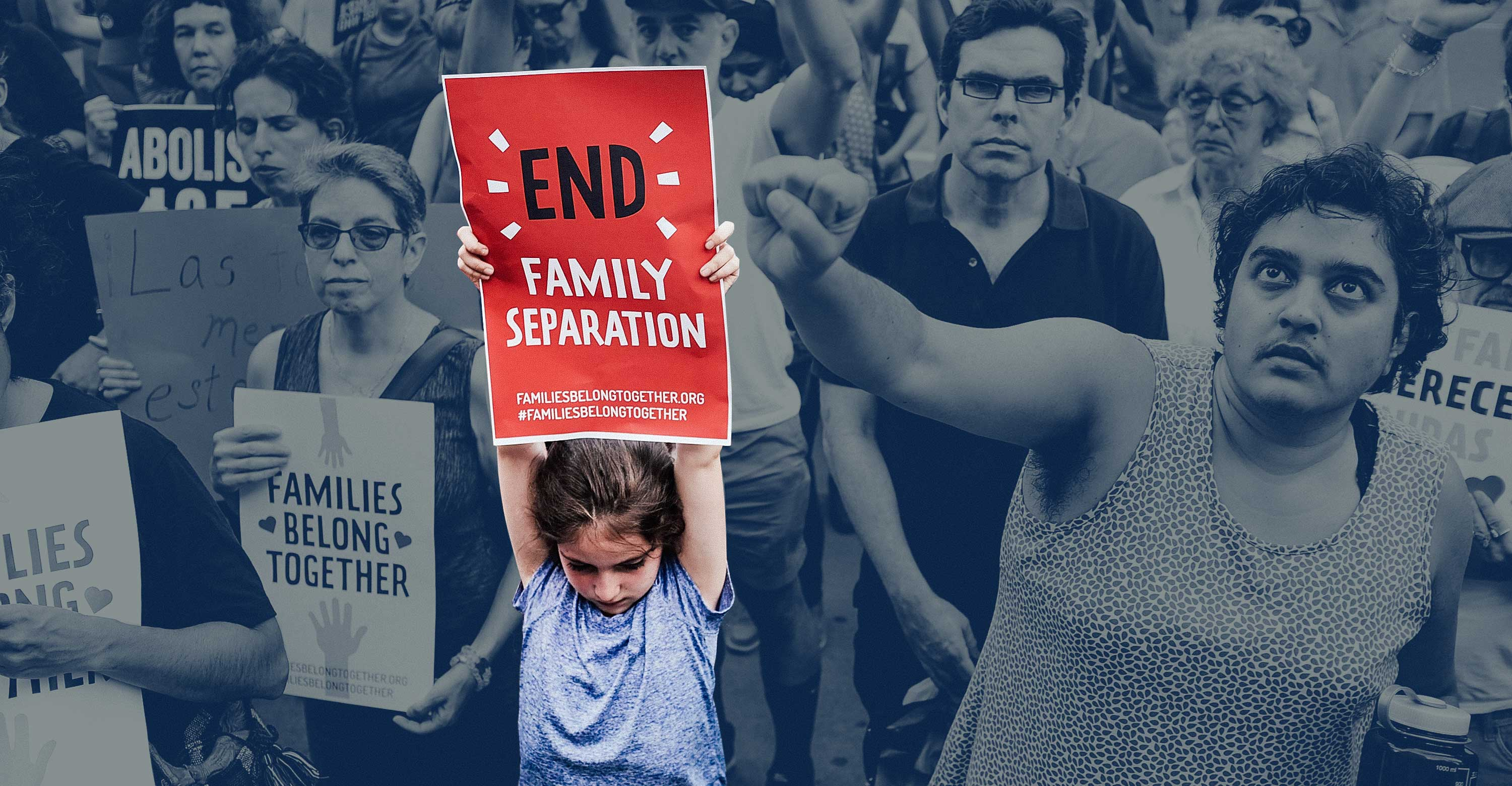 Immigrant rights advocates and others participate in rally and and demonstration at the Federal Building in lower Manhattan against the Trump administration's policy that enables federal agents to take migrant children away from their parents at the border on June 1, 2018 in New York City.