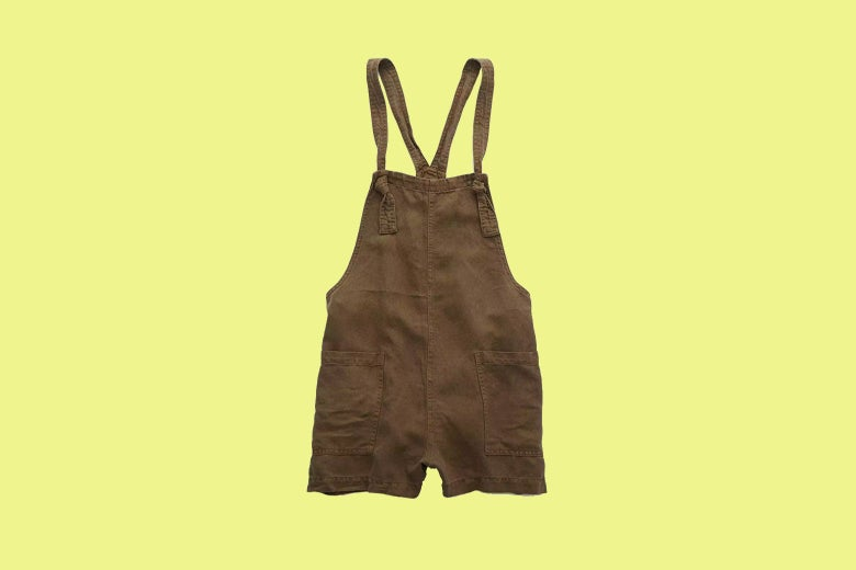 Aerie Twill Knot Shortall in brown by American Eagle.
