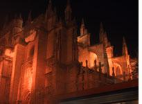 The Cathedral of Seville at night