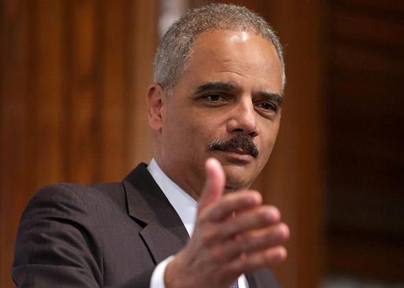 Attorney General Eric Holder delivers remarks during the NAACP Legal Defense Fund's luncheon to commemorate the Supreme Court's 1954 Brown v. Board of Education.
