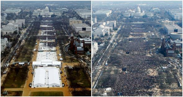 Inauguration comparison