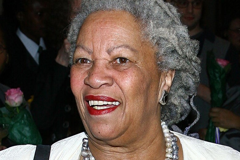 Toni Morrison at an event.