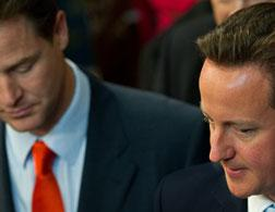 Nick Clegg, left, and David Cameron. Click image to expand.