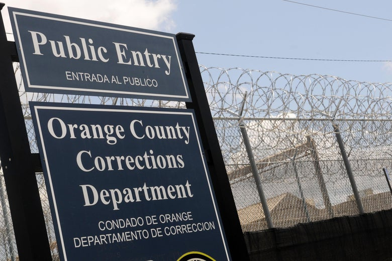 Sign for Florida's Orange County Corrections facility.
