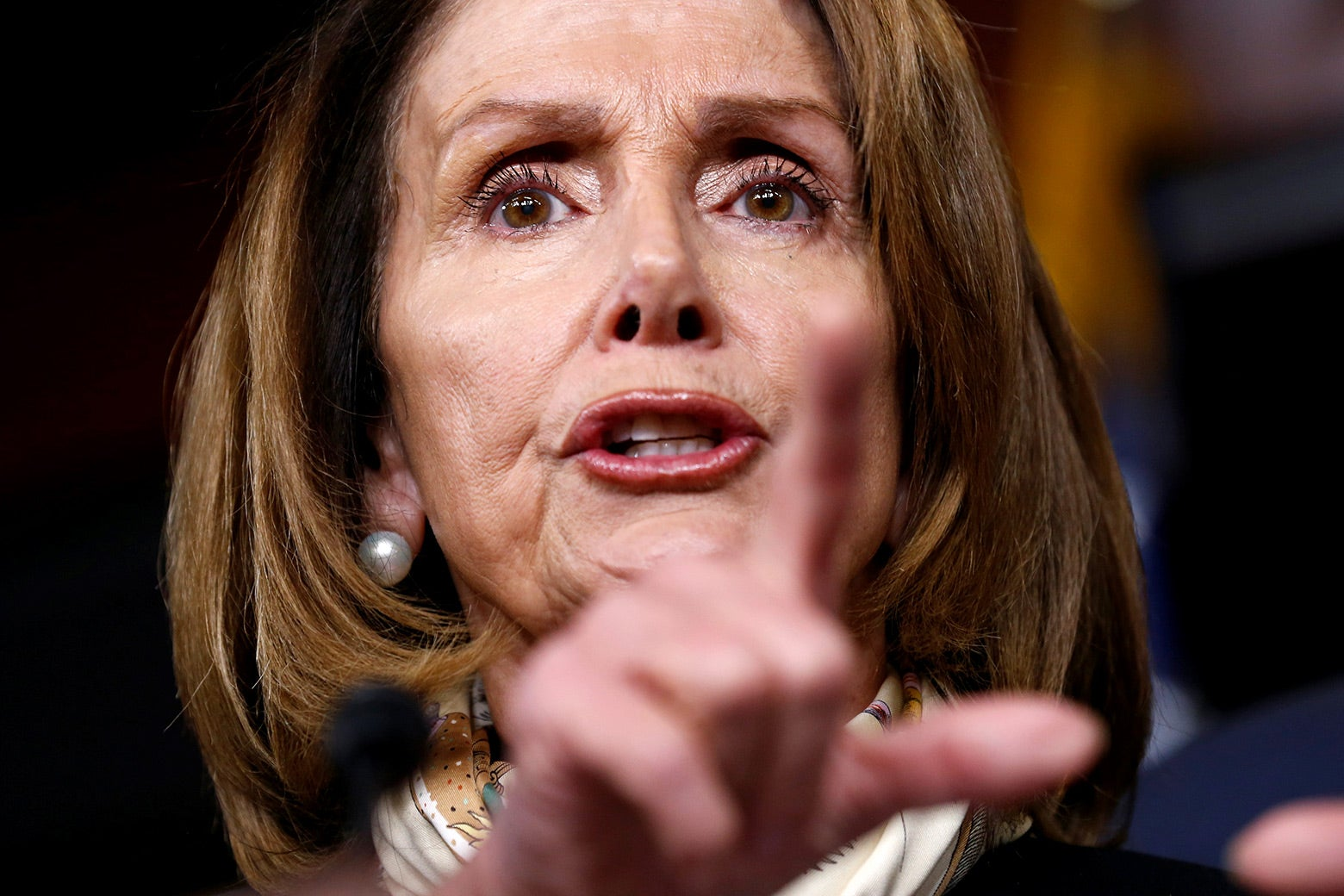House Minority Leader Nancy Pelosi speaks during a news conference on Capitol Hill on Jan. 20.