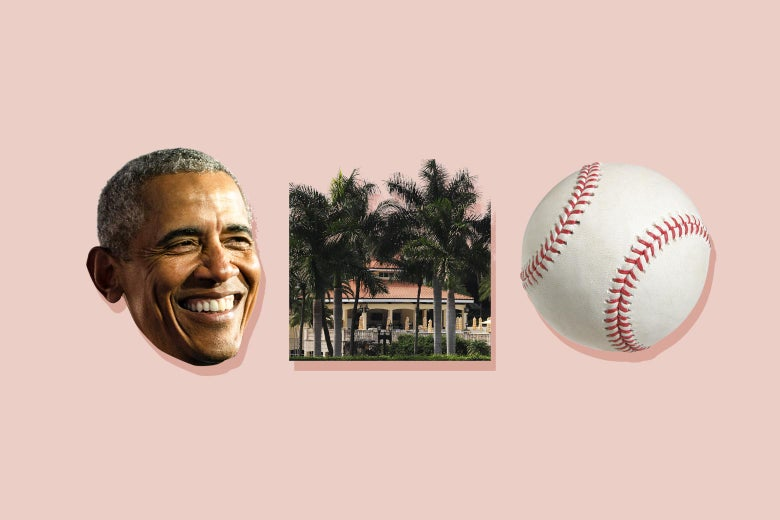 Barack Obama, Doral, and a baseball.