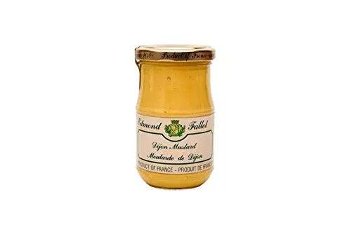 Mustard in a jar.