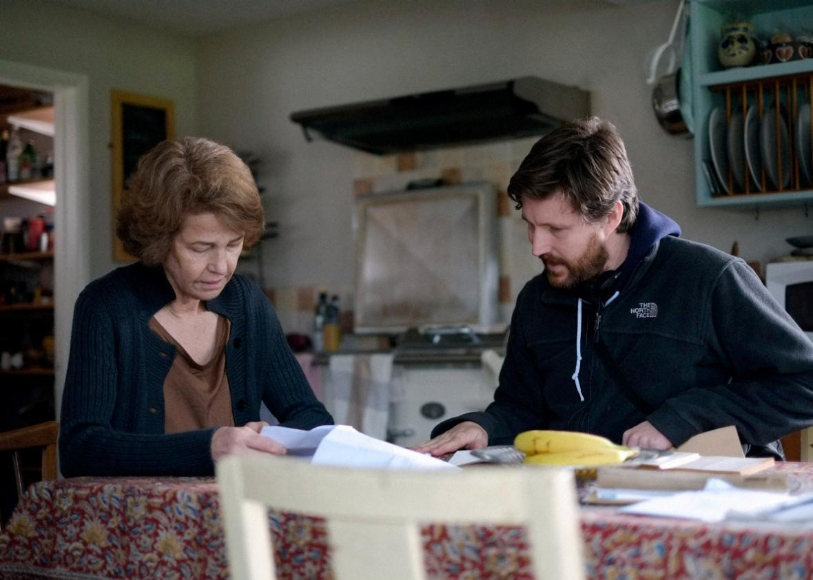Charlotte Rampling and Andrew Haigh on the set of 45 Years
