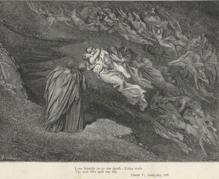 Inferno, Canto V, by Gustave Dore.