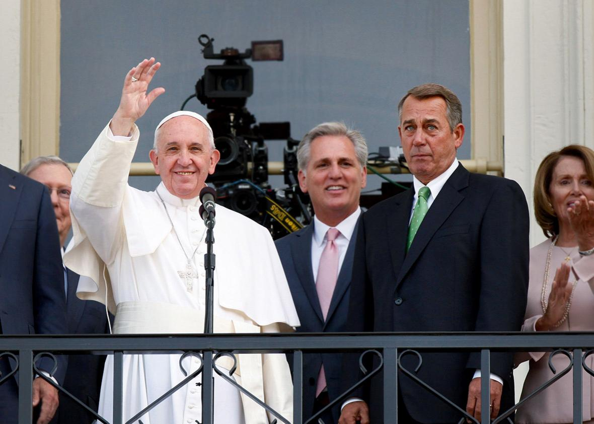 Pope Francis Speaker of the House John Boehner.