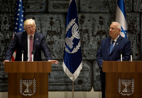 "The President Just Told a Room of Israelis That He ""Just Got Back From the Middle East"""