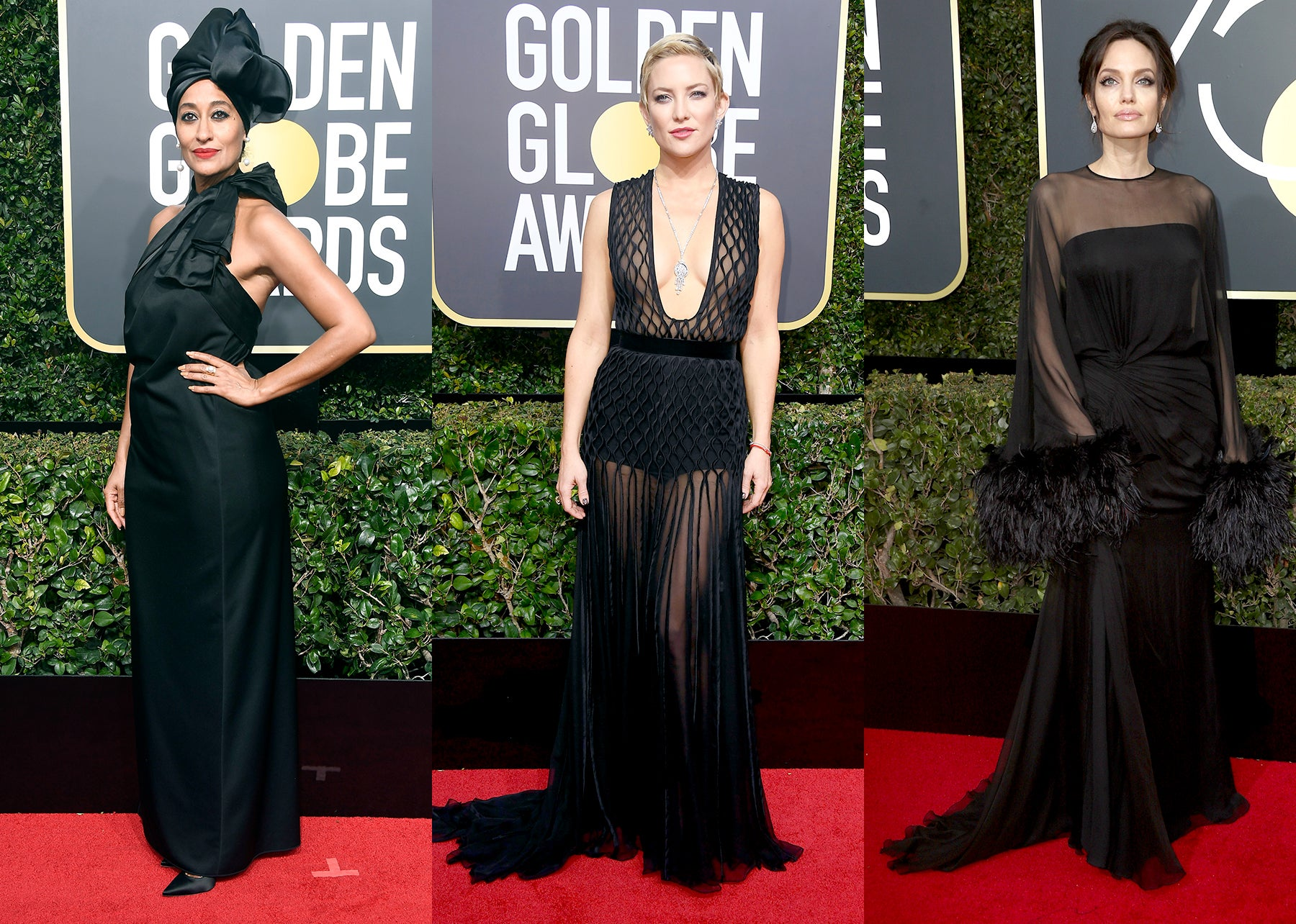 Tracee Ellis Ross, Kate Hudson, and Angelina Jolie.