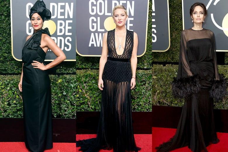 Tracee Ellis Ross, Kate Hudson, and Angelina Jolie.
