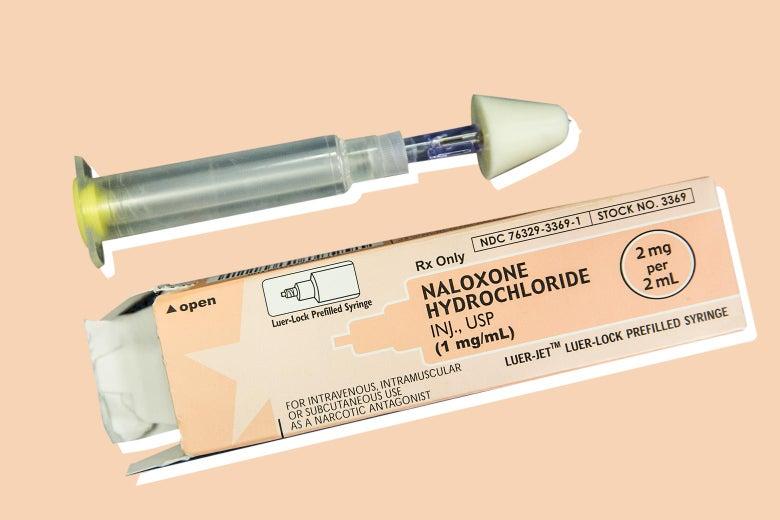Naloxone injectable kit