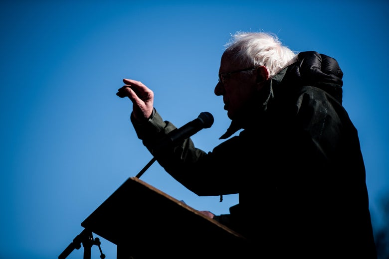 Sen. Bernie Sanders addresses the crowd during the annual Martin Luther King Jr. Day at the Dome event on January 21, 2019 in Columbia, South Carolina.