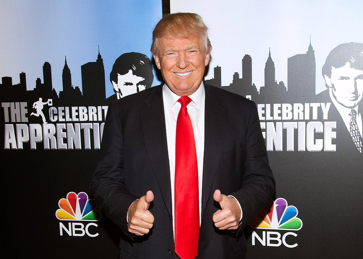 "Donald Trump attends the ""Celebrity Apprentice"" Red Carpet Event at Trump Tower on January 5, 2015 in New York City."