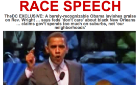 Screengrab of the Daily Caller's homepage on Wednesday morning