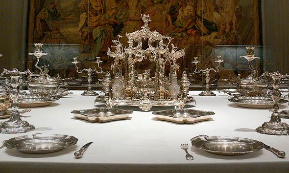 The table setting of the Hildesheim prince bishop, 1763, Munich.