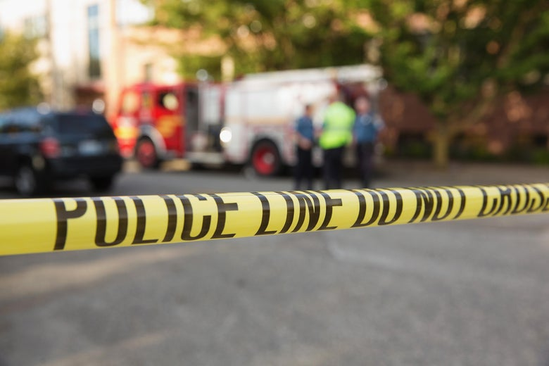 Police tape marks the crime scene after a shooting at Seattle Pacific University on June 5, 2014 in Seattle, Washington.