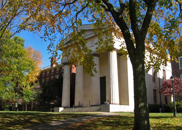 Manning Chapel (Built in 1834) at Brown University.