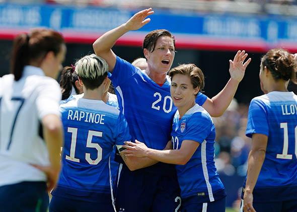 Forward Abby Wambach #20 of the United States.