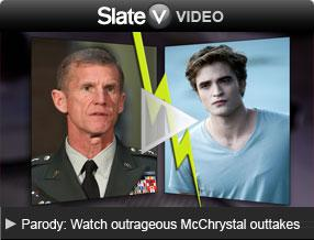 Video Parody: Watch outrageous McChrystal outtakes. Click to launch video player.