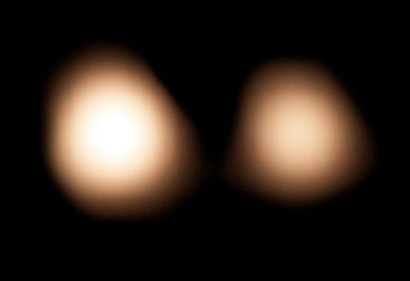Pluto and Charon.