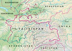 Map of Tajikistan. Click image to expand.