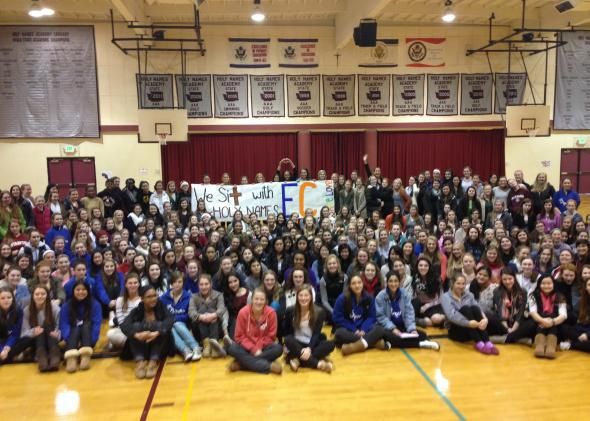 Holy Names students protest in solidarity with Eastside Catholic