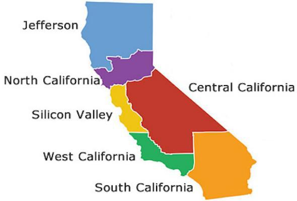 Six Californias map
