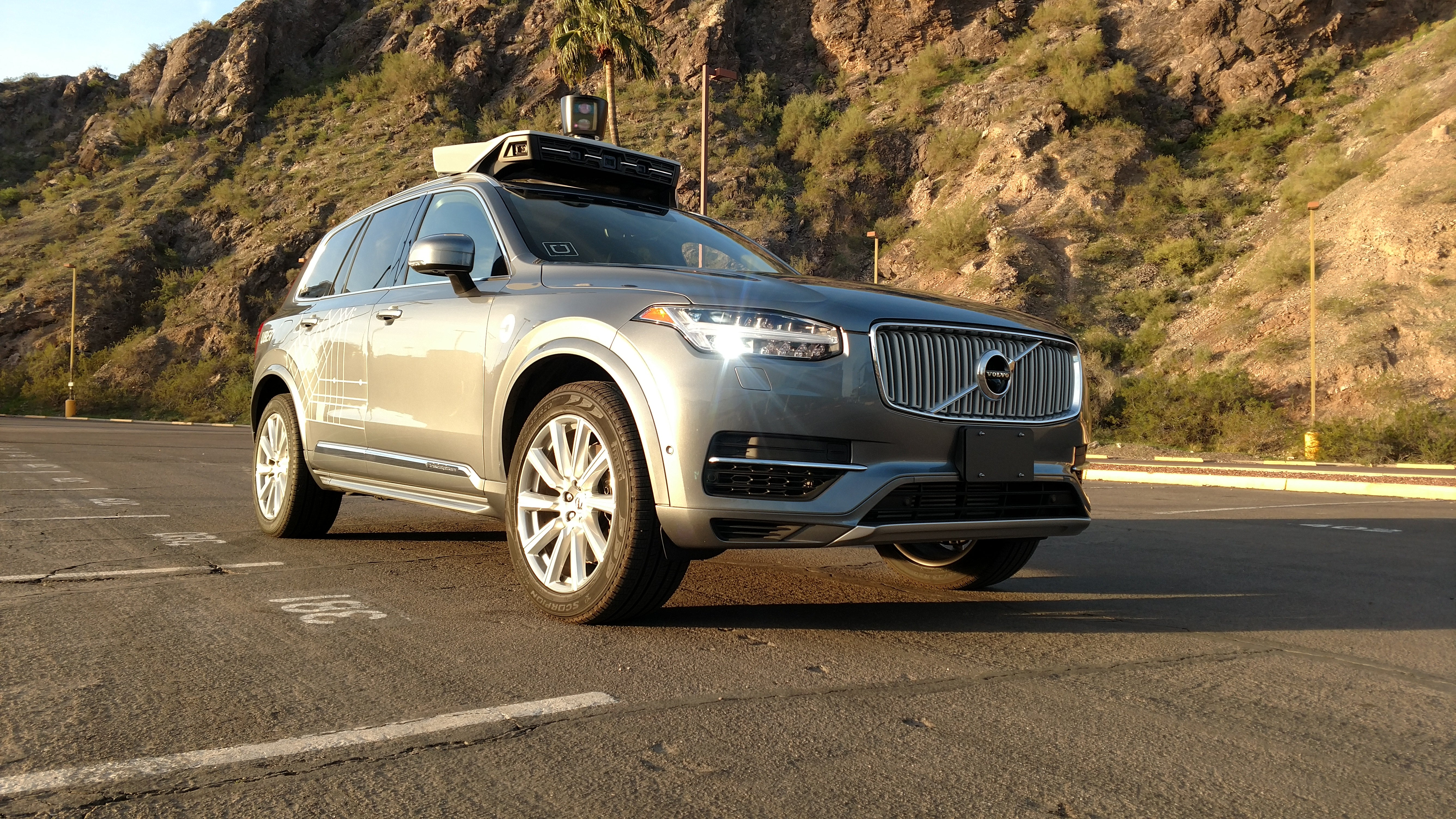 An Uber self-driving car.